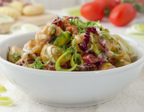 Creamy Gnocchi Pan With Österkron And Radicchio From The Air Fryer 1