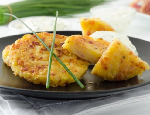 Ham, Cheese, And Potato Pancakes From The Air Fryer 1