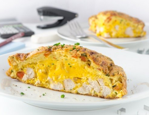 Frittata With Corn, Paprika And Grilled Turkey Cubes From The Air Fryer 1