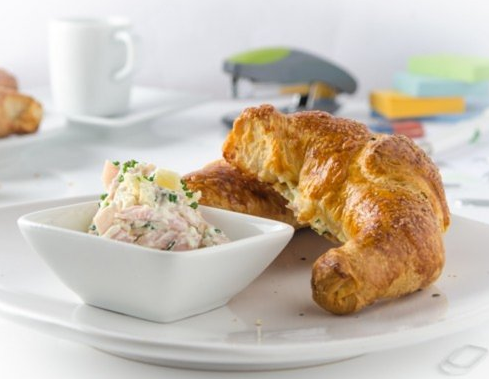 Ham, Cheese And Herbs Breakfast Croissant From The Air Fryer 1